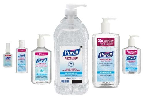 Purellhandsanitizerbottles